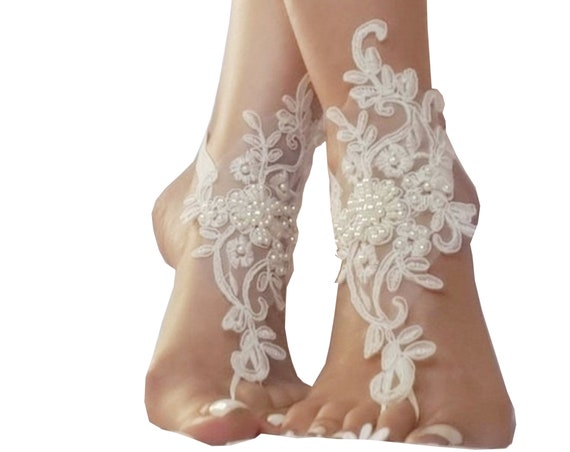 Beach wedding barefoot sandals wedding shoes prom party steampunk bangle beach anklets bangles bride bridesmaid gift