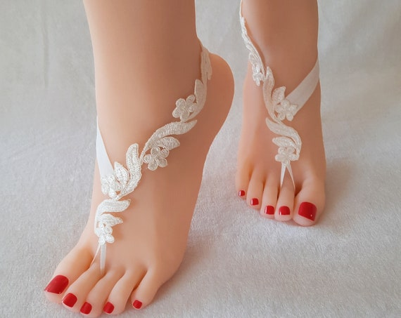 Barefoot, sandal, wedding, lace, bangle, bridal, anklet, beach, accessories, footwear, lace barefoot, wedding barefoot sandal, beach wedding