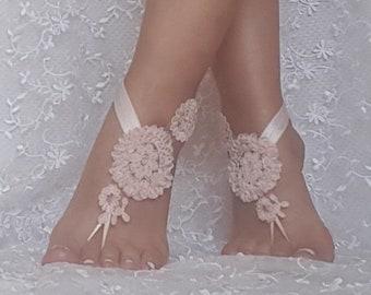 dab7ed0a82de9 Lace barefoot sandal