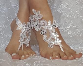 f76de14ad Ivory bridal anklet