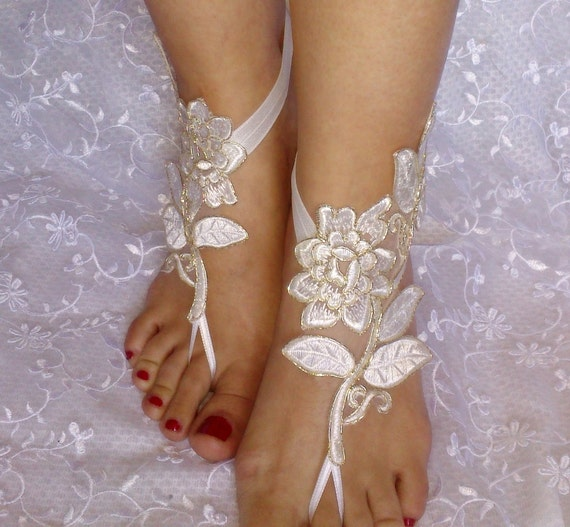 ivory gold Bridal Accessories, dance shoes, Party, Shoe accessories, wedding bridal, bridesmaid shoes, bohemian wedding shoes