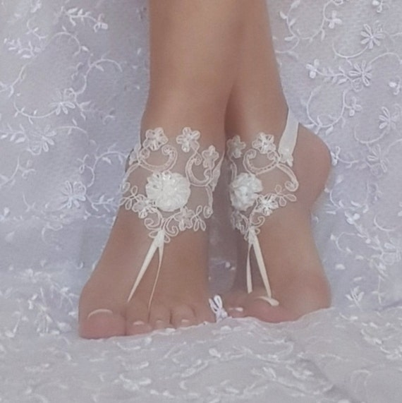 fb817e4a9d91c  25.00 ivory or rustic beige beach wedding barefoot sandals