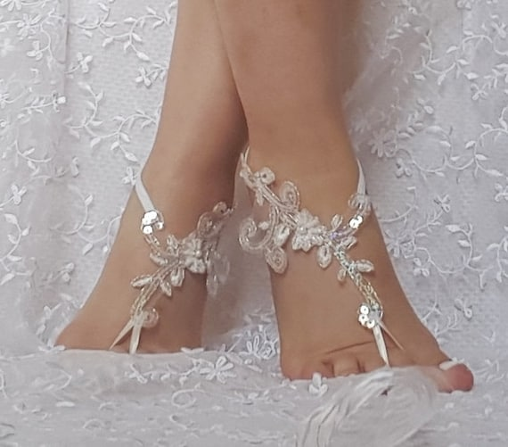 beach shoes Unique design bridal sandal beads sequins barefoot sandals, bangle, wedding anklet, anklet, bridal, wedding