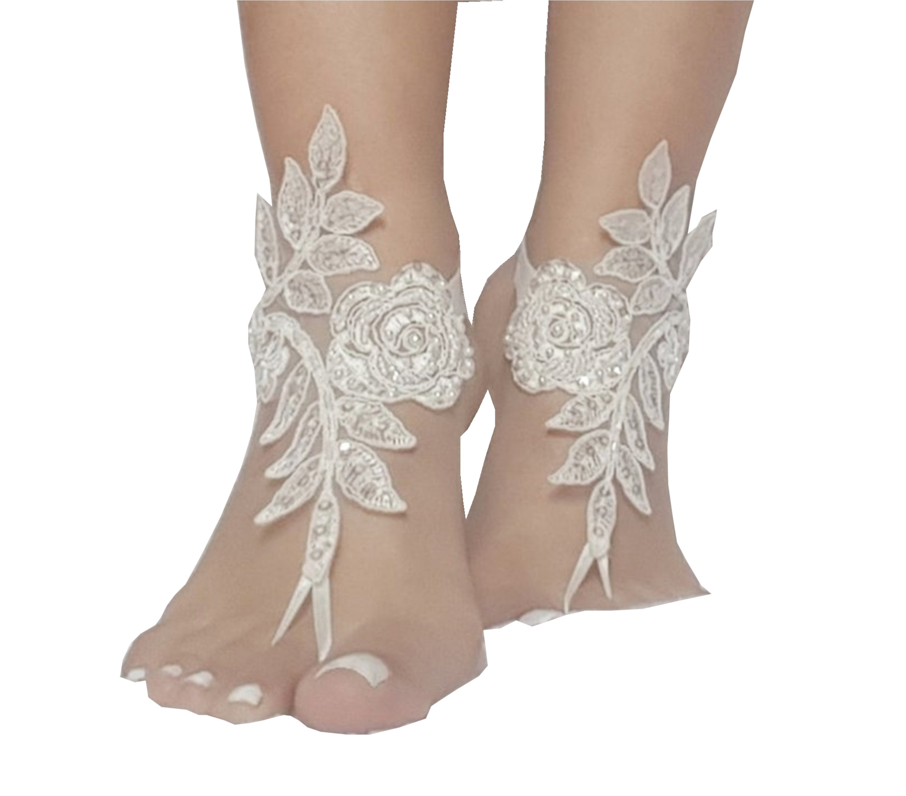 7c0283ef9 24 color Bridal barefoot sandals beach wedding barefoot sandal footwear  footgear lace barefoot shoes bridal shoes white ivory champagne