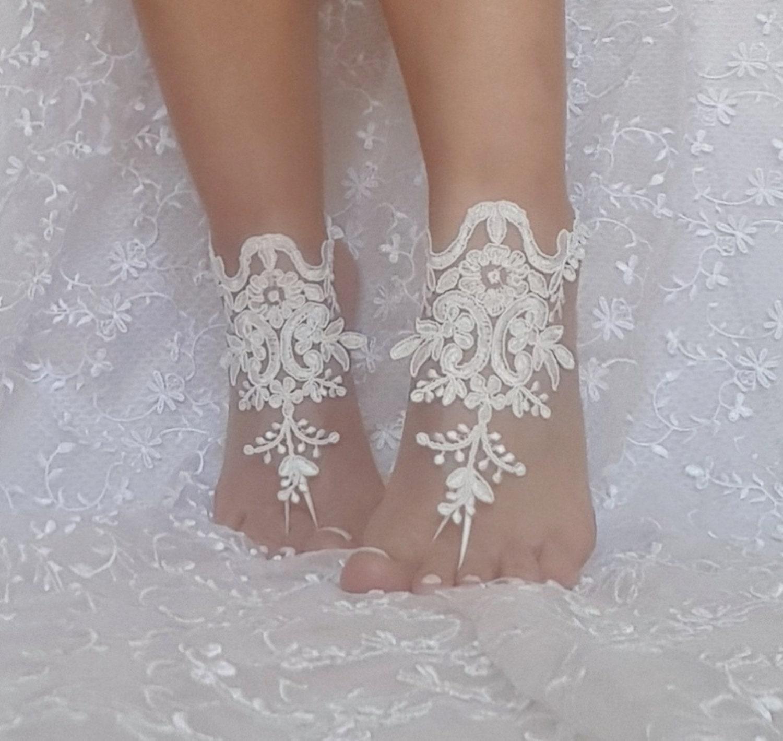 d34935c3476f ivory beach wedding barefoot sandals