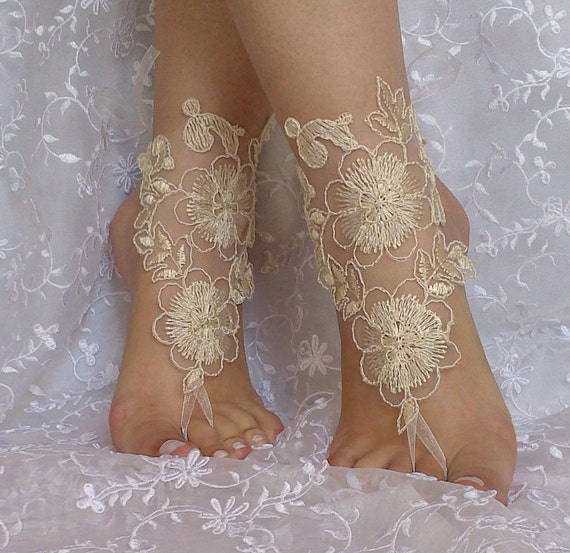 cappuccino gothic barefoot sandals wedding prom party steampunk bangle beach anklets bangles bridal bride bridesmaid