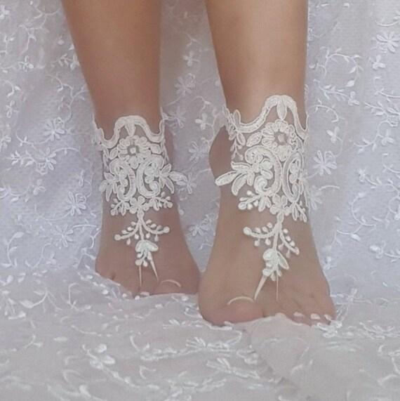 5aa7fe5163d502 ... ivory beach wedding barefoot sandals