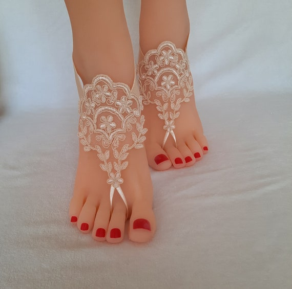 3 color beach wedding barefoot sandals prom party jubilee celebration anniversary beach wedding beach pool barefeet handmade woman gift