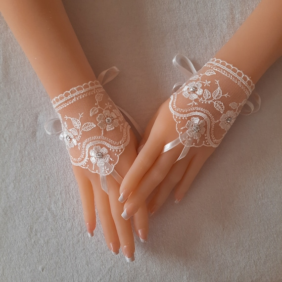 4 color 9 options Fingerless glove lace Ivory Wedding gloves bridal gloves lace gloves fingerless gloves lace gloves gloves bridal accessory