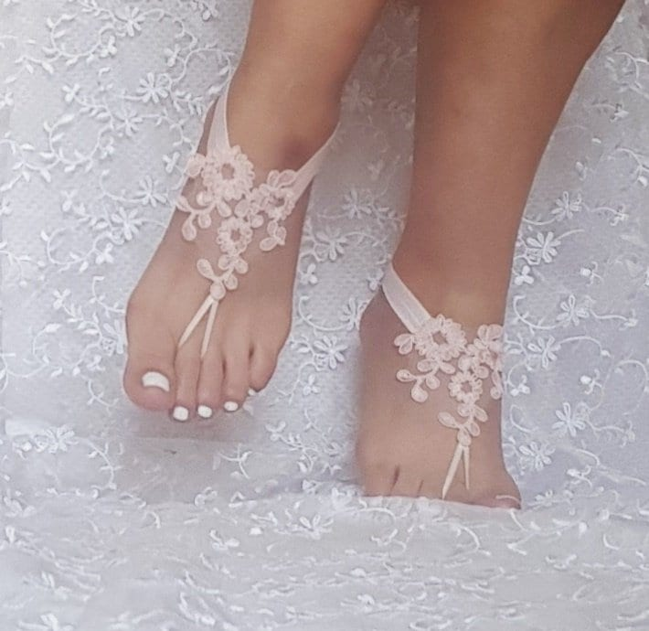 86a150eb63fe lace barefoot sandals