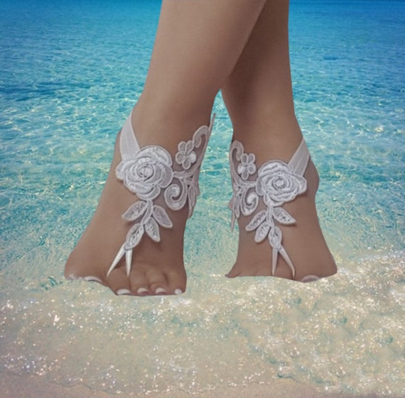 Unique Barefoot sandals,  nude shoes, foot decoration, yoga clothes, beach wedding barefoot sandals, bridesmaid gift, , handmade,