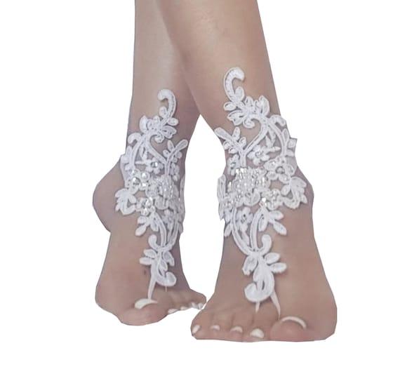 4 color Beach wedding barefoot sandals, Barefoot,  bridal barefoot sandals, beach wedding, bohemian wedding, bridal shoe, beach wedding shoe