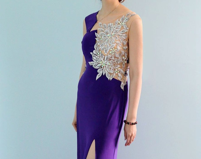 CLEARANCE - Gorgeously Elegant Custom Made Long Formal Prom Evening or Wedding Dress also Suitable for Party