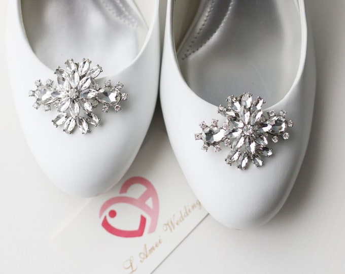 2pcs Crystal Rhinestone Shoe Clips,Wedding Shoe Clips, Bridal Shoe Clips, Rhinestone Shoe Clips, Clips for Wedding Shoes, Bridal Shoes