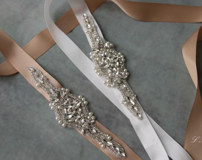 SALE-Bridal Rhinestone Belt,Bridal Rhinestone Sash,Wedding Rhinestone Belt,Wedding Accessories,Rhinestone Bridal Accessories