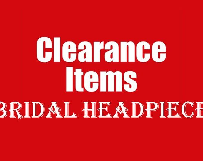 Clearance Wedding Hair Accessories, AS IS bridal headpiece