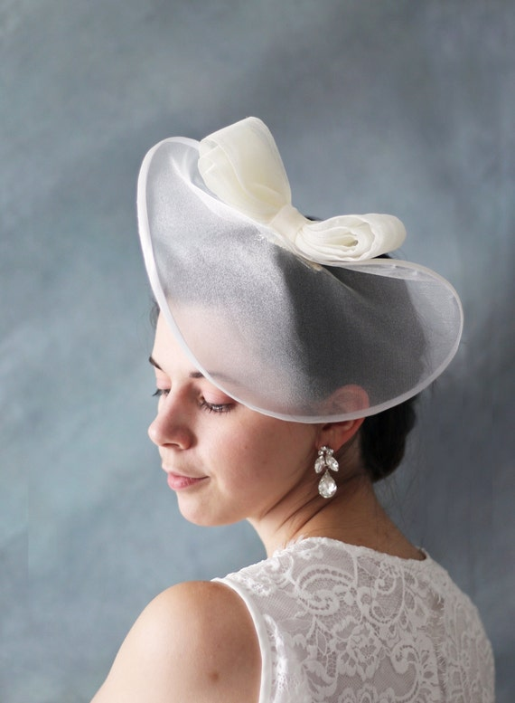 Vintage Queen Style Cambric Hat with in Cream,wedding hat clip