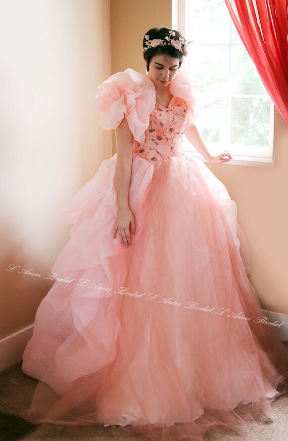 Pink Dreamsweetheart Neckline Princess Style Dress With Sweep Etsy