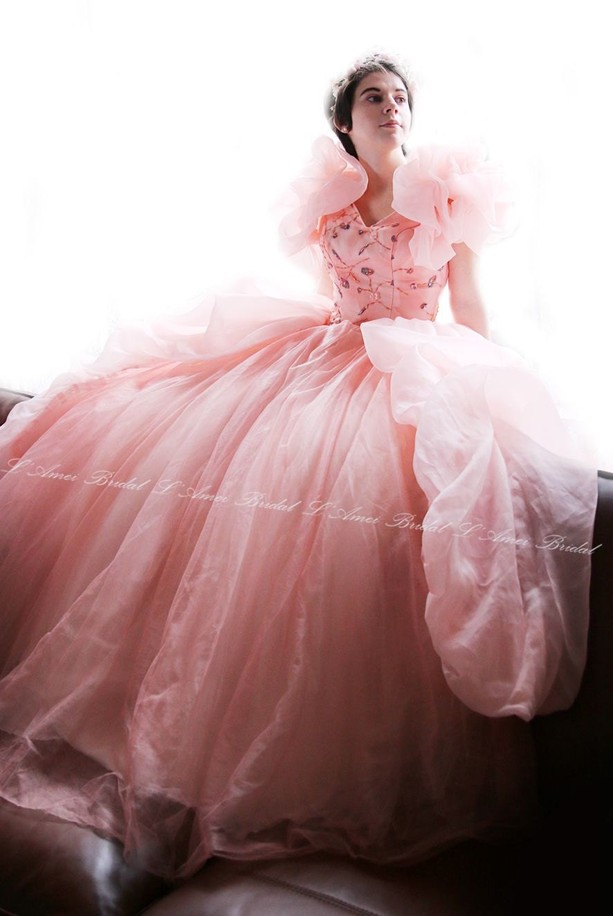 Pink Dreamsweetheart Neckline Princess Style Dress With Sweep