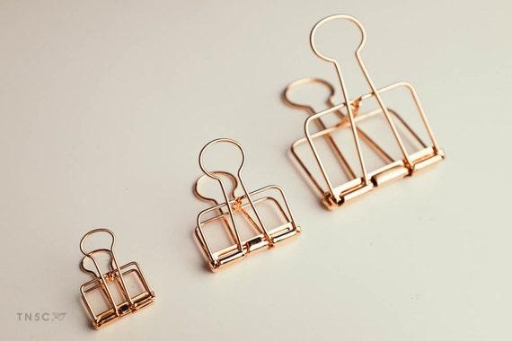 Rose Gold Metall Binder Clip / Draht Bulldog Papier Kalender | Etsy