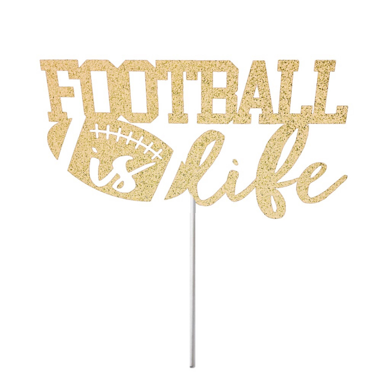 Le Football Est Topper La Vie Topper Sports Cake Topper Est