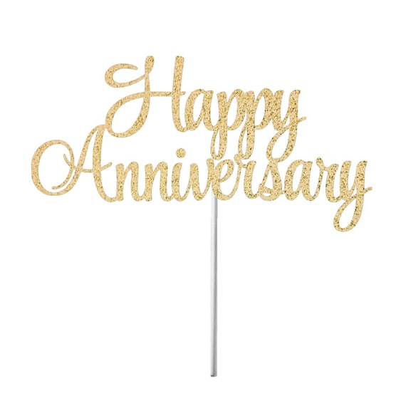 happy anniversary cake topper anniversary topper wedding etsy