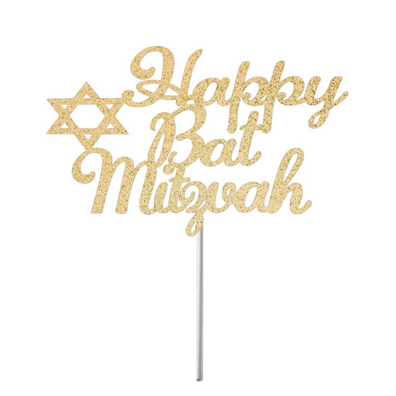 Elegant Bat Mitzvah Topper Happy Bat Mitzvah Cake Topper,Mitzvah Cake Topper Mitzvah Cake Topper Jewish Celebration
