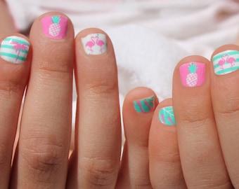 Flamingo Paradise Mini Nail Wraps