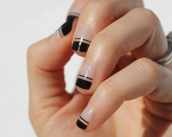 Black Piper Nail Wraps