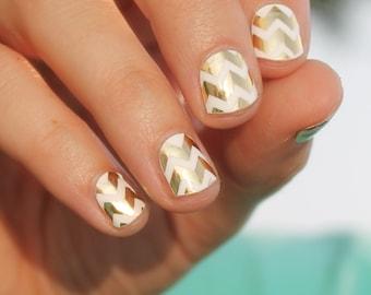 Gold Chevron Nail Wraps