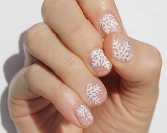 Snowflake Nail Decal Etsy