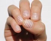 White Stripes Nail Wraps