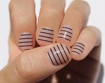 Black Stripes Nail Wraps