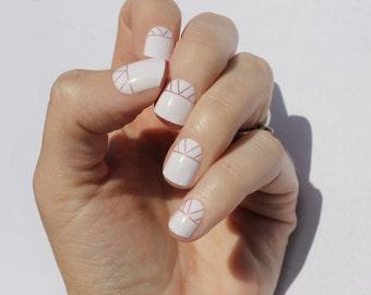 White Indio Nail Wraps