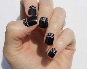 Black Indio Nail Wraps