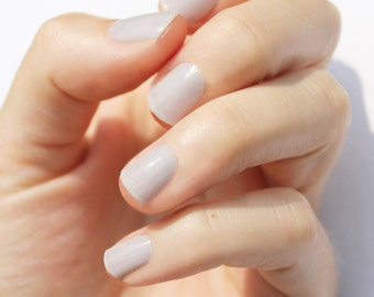 Solid Barely There Gray Nail Wraps
