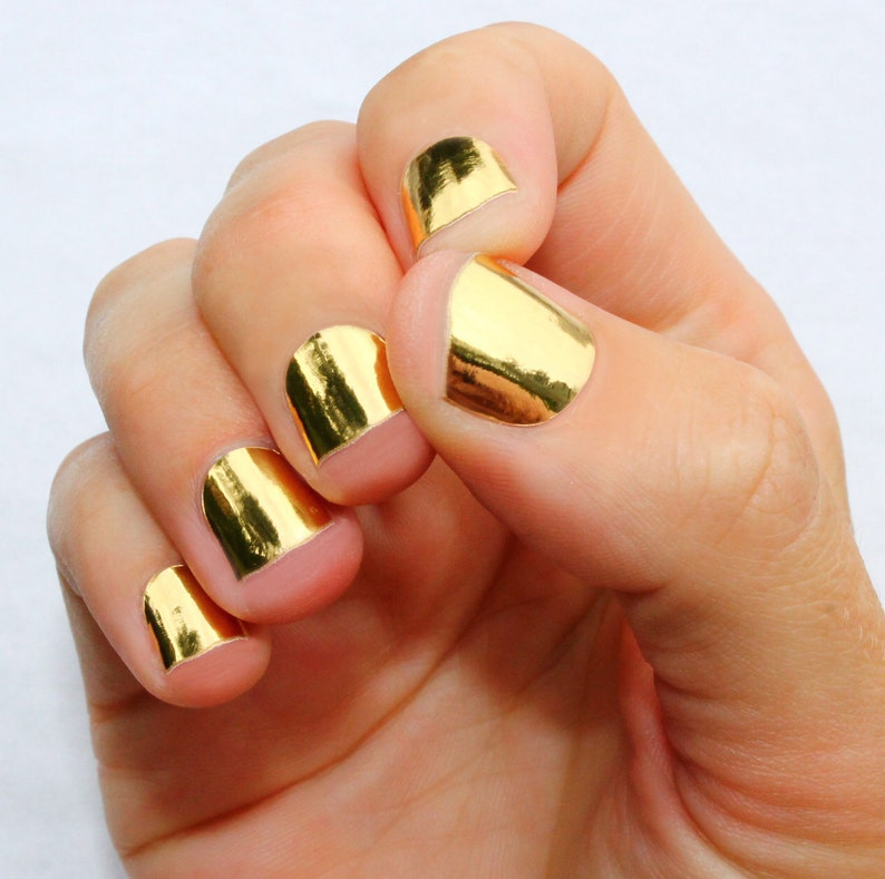 Solid Gold Nail Wraps | Etsy