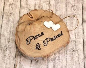 Ringkissen Holz personalisierbar individualisierbar Ringträger Holz individualisierbar handgraviert HANDGRAVUR >keine Lasergravur!<