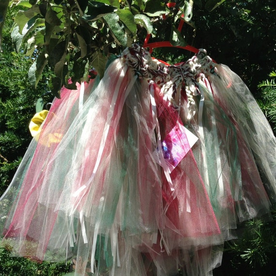 Cotton yarn Smokey Wine Crochet Waist Cream Worsted weight Fairy Skirt Burgundy Forest Green Priority Shipping Made to Order