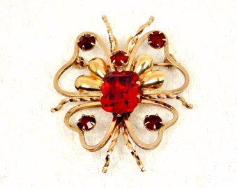 Abstract Butterfly Brooch Marked LINC
