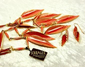 Vintage Coral Statement Schrager Set