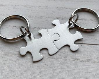Blank Puzzle Piece Key Chain Non-Customizable Anniversary Wedding Graduation Bridesmaid Puzzle Piece will Come Blank single keychain
