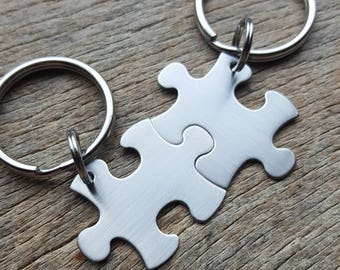 Blank Puzzle Piece Key Chain Non-Customizable Anniversary Wedding Graduation Bridesmaid Puzzle Piece will Come Blank