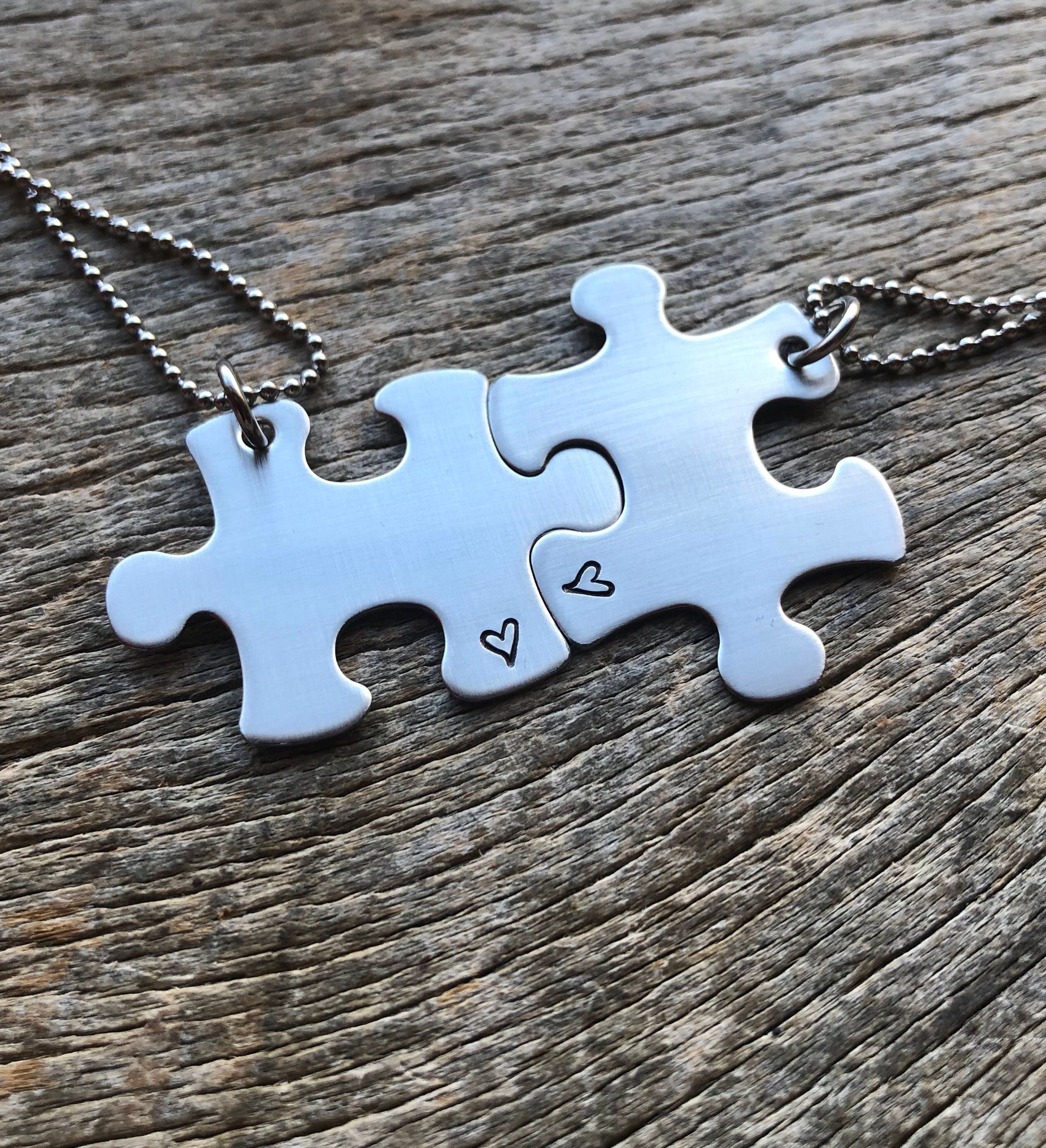 Puzzle piece necklaces heart hand stamped choose your quantity puzzle piece necklaces heart hand stamped choose your quantity bridesmaids best friends pick your image aloadofball Gallery