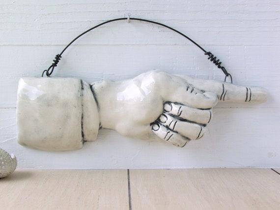 Ausverkauf. Zweite. Finger zu zeigen. Gebrannte Keramik. | Etsy