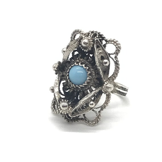 Filigree Turquoise Ring - Vol 2