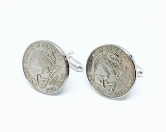 USA Buffalo Bison Coin Cufflink
