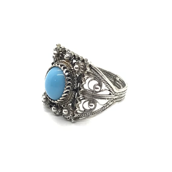 Filigree Turquoise Ring - Vol 1
