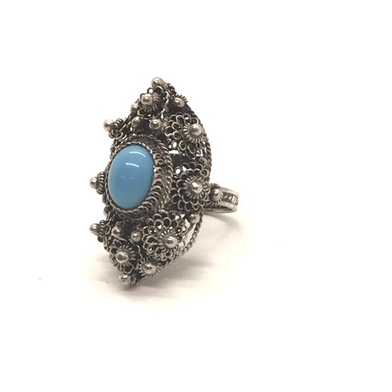 Filigree Turquoise Ring - Vol 3