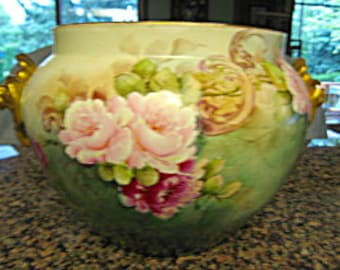 Antique Delinieres French Limoges Jardinaire